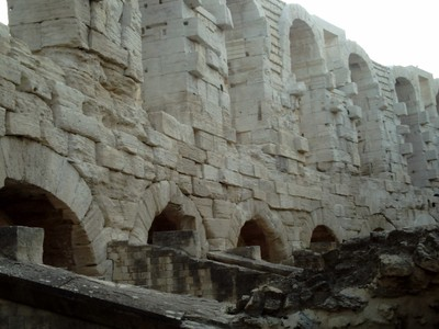 ARLES  FRANCE.   Roman  Arena, not as well preserved has  Nimes.