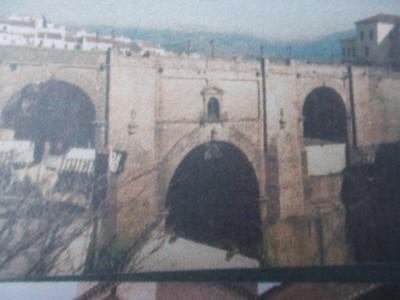 RONDA,  SPAIN.  --  Puente Nuevo, completed 1793  Bridge  over  Gorge.