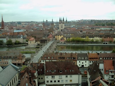 WURZBURG  GERMANY.    Town from castle.