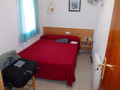 SALOU,  SPAIN.  Hotel  Tolosa,  single  room,  ensuite to  right.