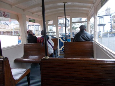 LLANDUDNO  WALES,  On tram to the summit.