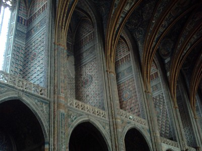 ALBI  FRANCE.     Cathedral of  St  Cecila.    Nave.  30m  [ 92ft