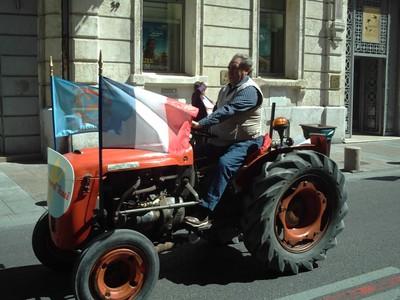 AVIGNON  FRANCE.   Farmers  Parade  in  main  street.