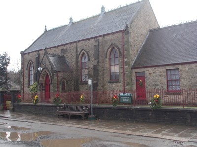 BEAMISH MUSEUM. Methodist Chapel from 1850s. Originally stood not far from the now Museum entrance.