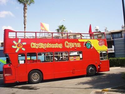 CYPRUS  PAPHOS.. Hop on Hop off  Tour  Bus.