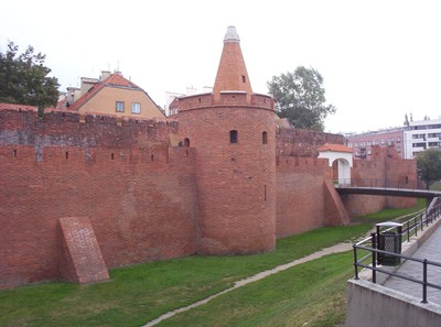 WARSAW  POLAND.  Old city wall.