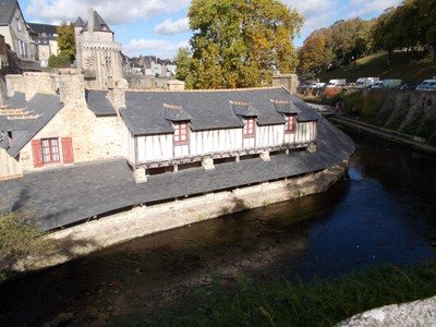VANNES,  FRANCE...The Lavoirs, dates from 17th  century.  For the washing of clothes.