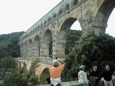 PONT DU  GARD.  Built in the  First  Century, to  carry  water to Nimes.