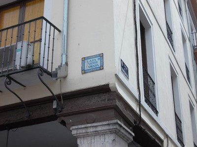 VALLADOLID,  SPAIN.   Street  signs.