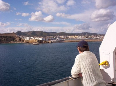 LEAVING THE ISLAND OF IBIZA.