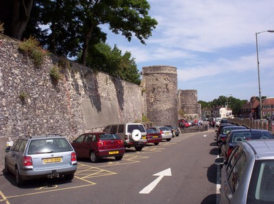 CANTERBURY  ENGLAND .    City  Wall.  Defensive  wall  around  the  City.