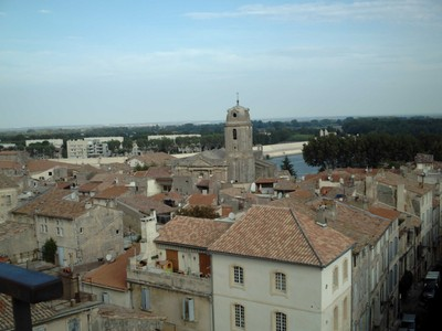 ARLES  FRANCE.  View from  Arena wall.