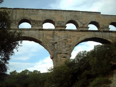 PONT  DU  GARD.  Height  48.8 m  [160 ft