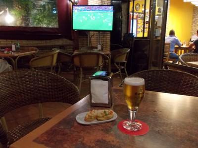 SALOU,  SPAIN.  Parrot pub my  favourite pub.