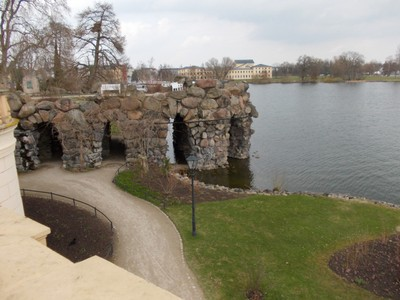 SCHWERIN  GERMANY.      Grounds of Castle.  { Palace }