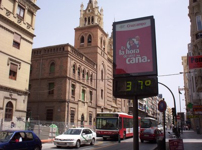 SPAIN   GRANADA...It can get hot.