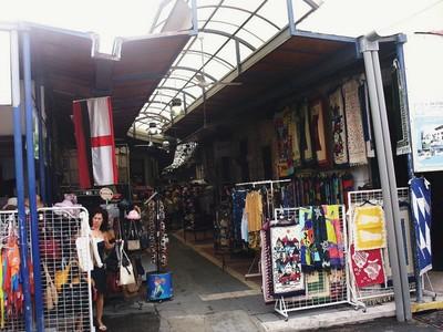 CYPRUS  PAPHOS.  Indoor market in old town, - Cypriot and Greek goods.
