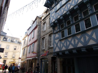 QUIMPER,  FRANCE.  Half timbered  buildings.