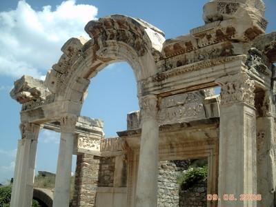 TURKEY  EPHESUS.   Hadrian  Temple.