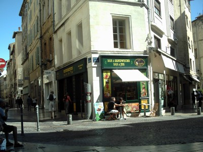 AVIGNON  FRANCE..  I had a nice  sandwich  and coffee  here.