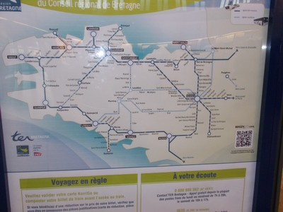 NORTHERN  FRANCE.   Train routes.
