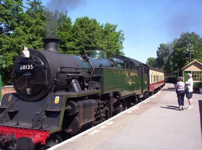 NORTH YORK  MOORS  RAILWAY.---  Hogworts  Express, look a like.--------The Goathland station was used as location for Hogsmeade in Harry Potter  Films.