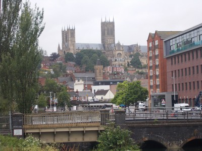 LINCOLN CATHEDRAL from Downhill.