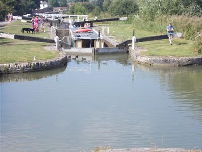 CAEN HILL LOCKS.         Kennet and Avon Canal.