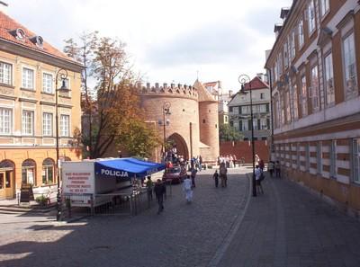 WARSAW  POLAND.  Barbican City Gate.
