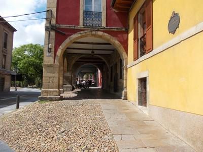 AVILES,  SPAIN.  -- Arcaded streets.