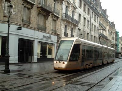 ORLEANS,  FRANCE.  Modern trams.