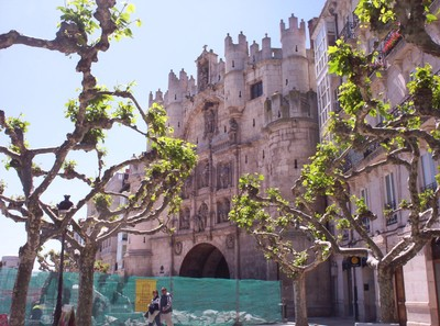 SPAIN  BURGOS.. Medieval  Gate.