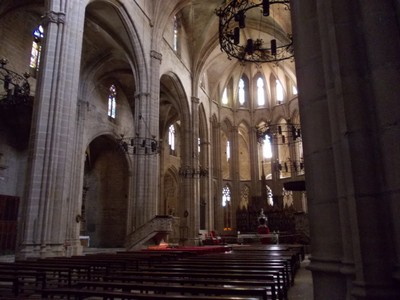 TORTOSA,  SPAIN.  Cathedral of St. Mary , nave.