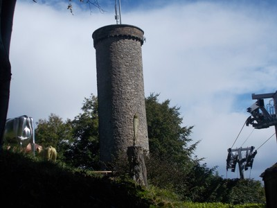 MATLOCK BATH.  Victoria Prospect Tower from 1844.  40ft high  [12.2 m }   52 steps.