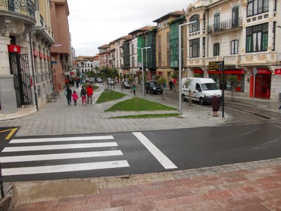LLANES,  SPAIN.  -  View  from  steps  of  Hotel Don  Paco.