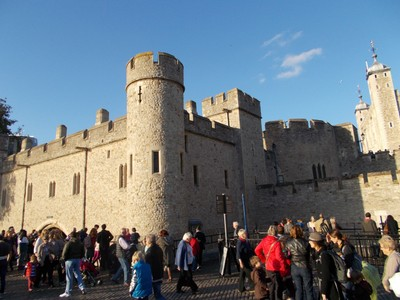 TOWER OF LONDON  ,in November.