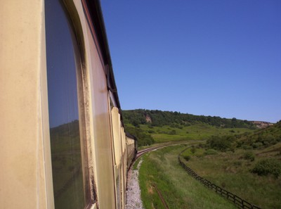 NORTH YORK  MOORS  RAILWAY.-----Towards  Goathland.