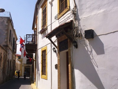 CYPRUS  KYRENIA... Homely hotel in narrow side street.