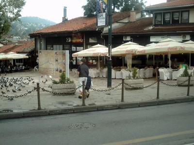SARAJEVO  Town  centre.,  near  tram  stop.