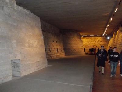 PARIS,  FRANCE,.  Louvre museum , underground.