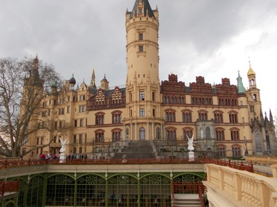 SCHWERIN  GERMANY.     Castle.--  Was the home of the Dukes and Grand Dukes of Mecklenburg., till 1918.