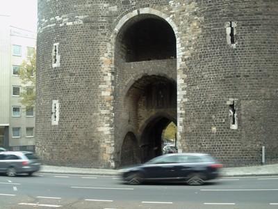 AACHEN  GERMANY.   Marschiertor,  gate in city wall.  near train station.