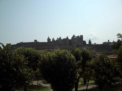CARCASSONNE  FRANCE.    First sight of  Cite De Carcassonne.