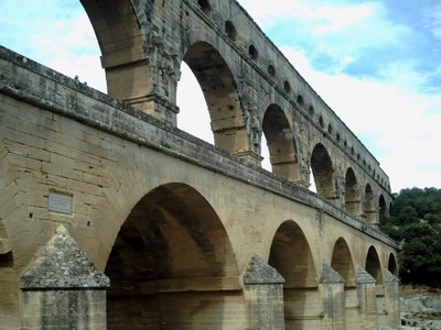 PONT DU  GARD.  UNESCO  Heritage  Site,  added in 1985.