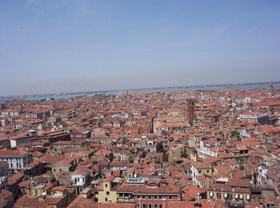 VENICE  ITALY.. View from top of tower in St Marks Square.