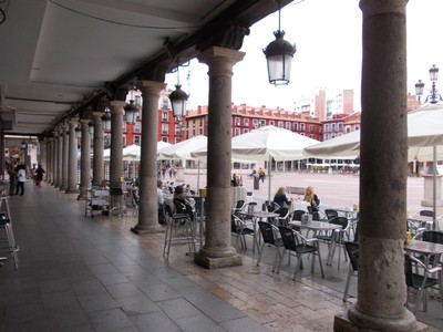 VALLADOLID,  SPAIN.  --  Plaza Major  in  centre  of  town.
