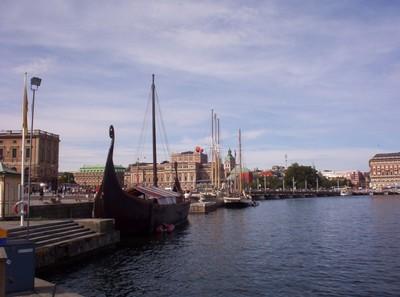 STOCKHOLM  SWEDEN .  Viking Ship.