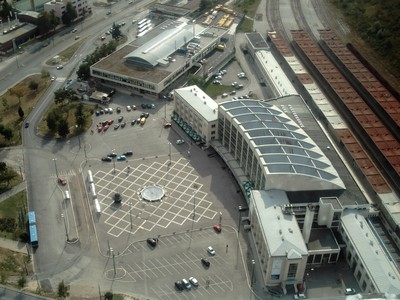 SARAJEVO..Railway  station on  right.and  Bus  station.at  top .