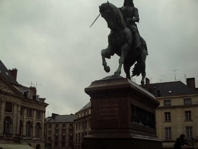 ORLEANS,  FRANCE.  Joan of Arc on horse back.