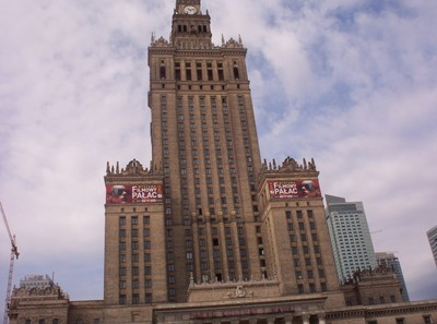 WARSAW  POLAND.  Palace of Culture, built 1952, present from U.S.S.R.